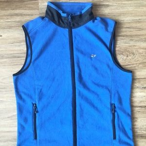 Vineyard Vines Fleece Vest Men's Medium Blue